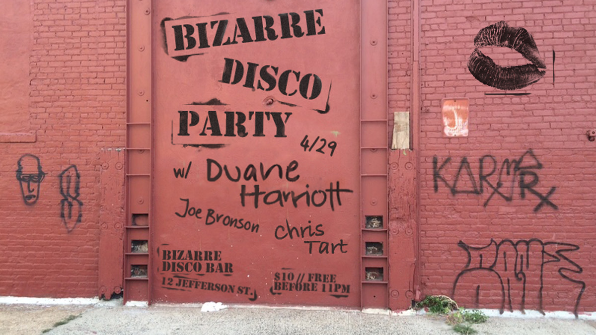 Bizarre Disco Flyer by Willy Soul