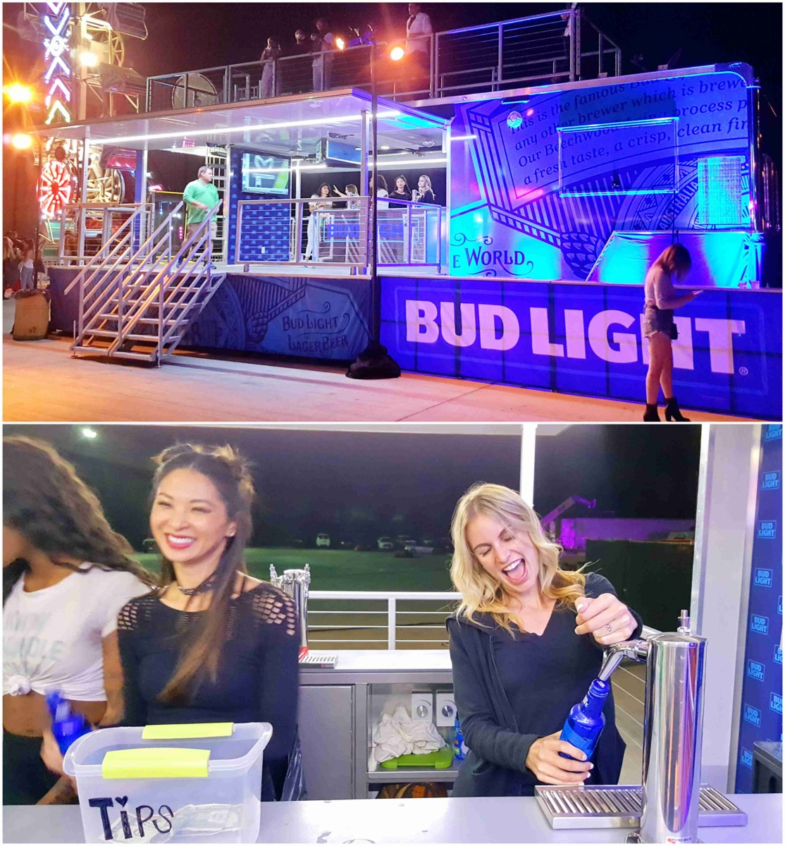 "Bud Light beauties ready to ""pour"" you a draft..."