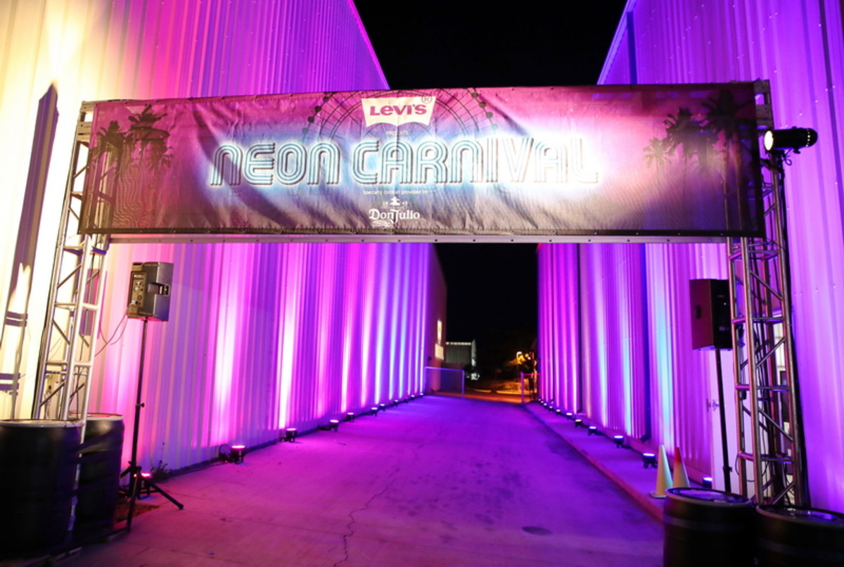 the Neon Carnival entrance and exit