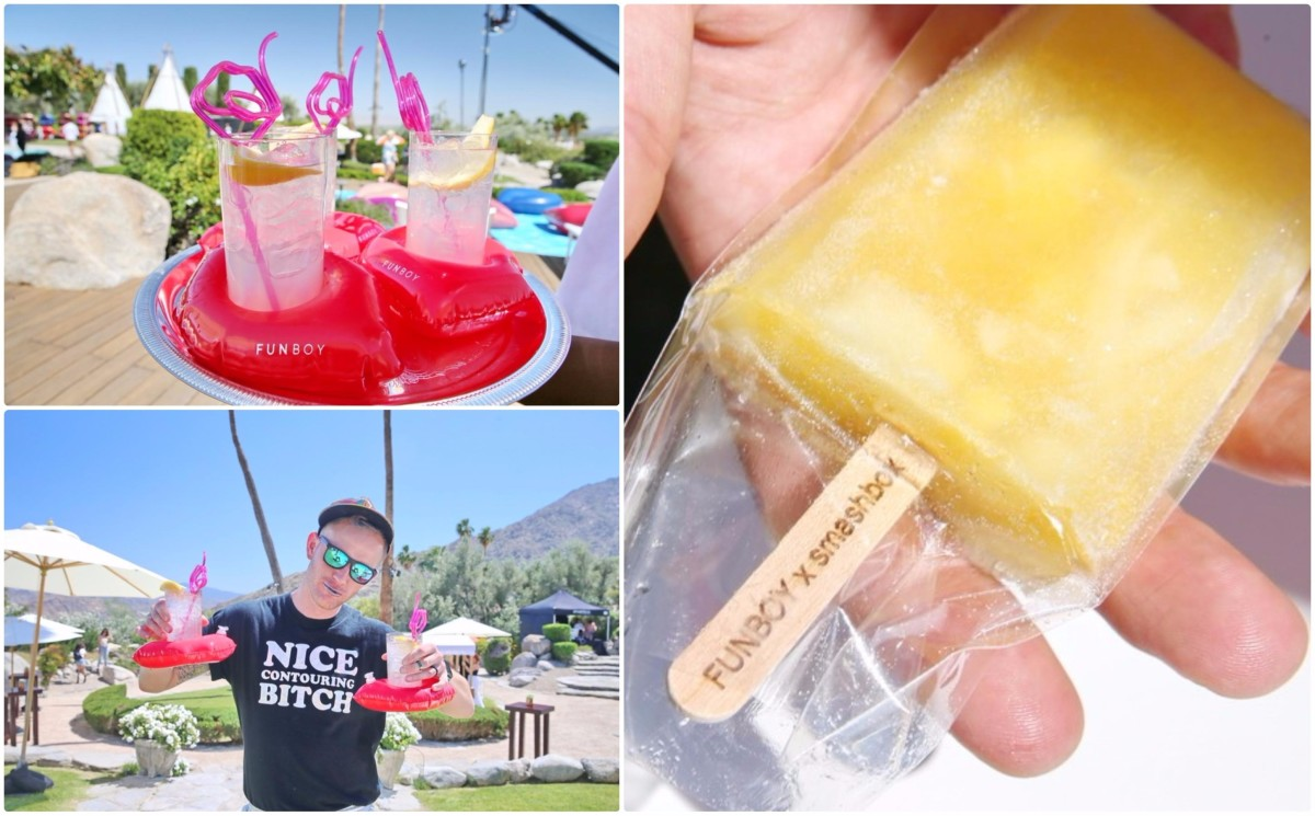 cocktails and alcoholic paletas at the Funboy x Smashbox pool party 2017