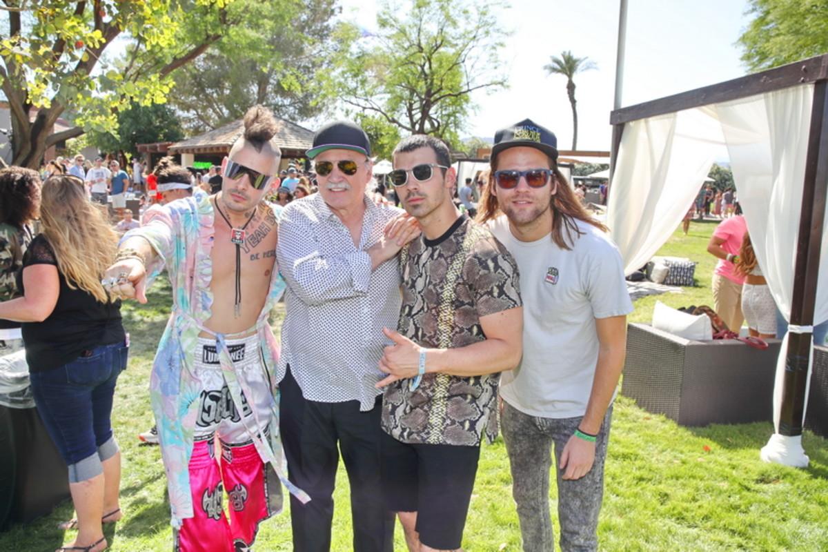 Legendary Producer Giorgio Moroder with Joe Jonas & DNCE