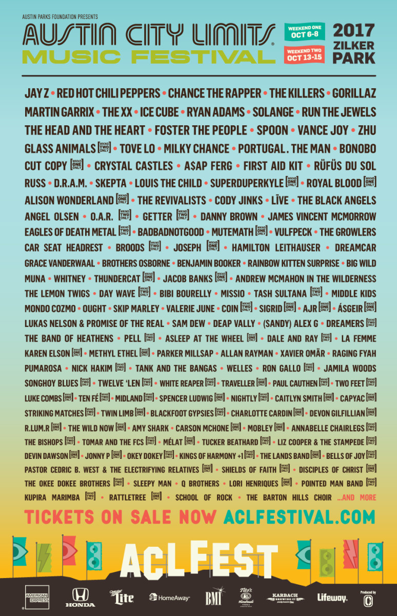 ACL Line-Up Poster