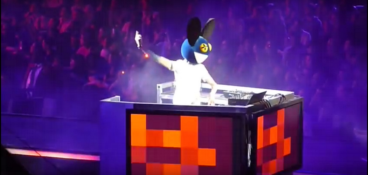 "Deadmau5 live promoting ""DJ Hero 2"" at the Activision E3 after party in 2010."