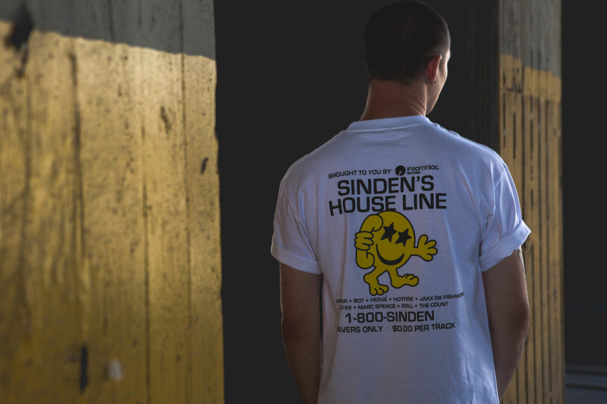 Rick Klotz' Lo-Fi artwork for the Sinden's House Line shirt