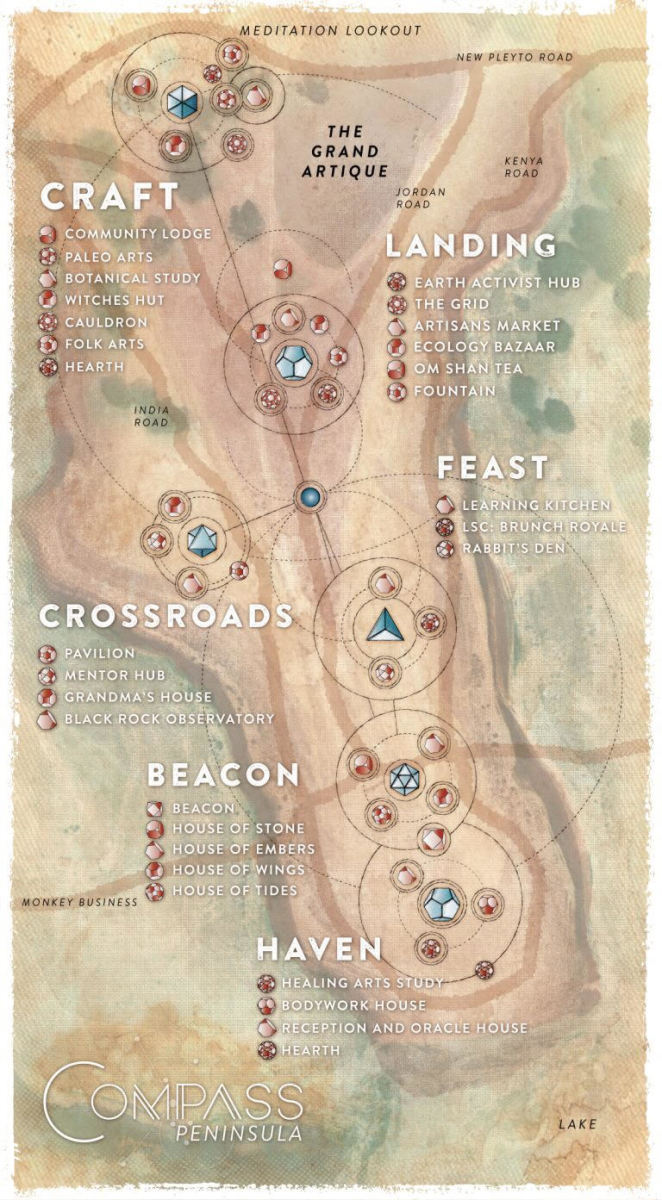 Points of the compass map