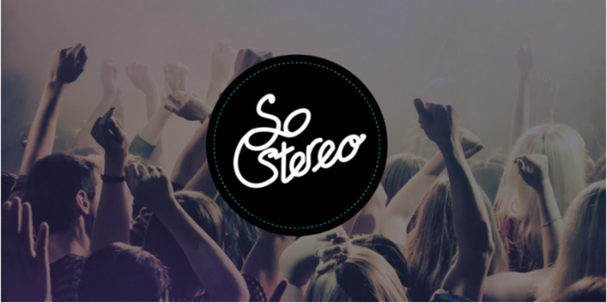 SoStereo Logo Shot with crowd.