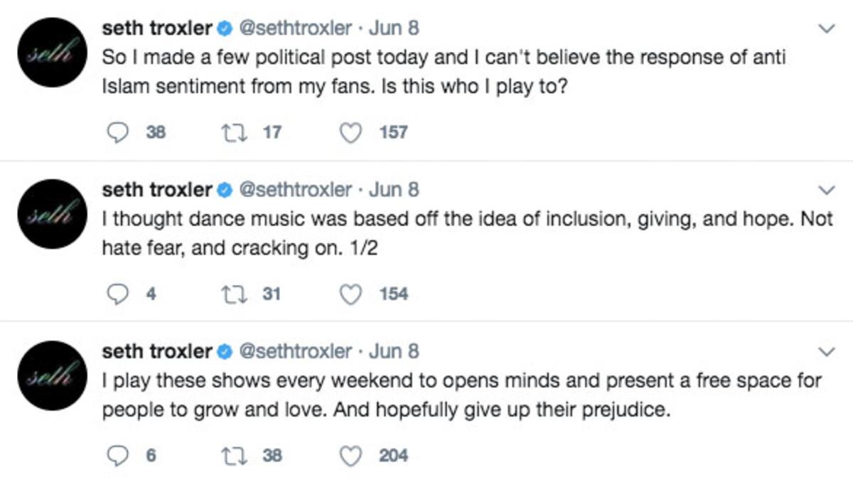 Troxler's tweets
