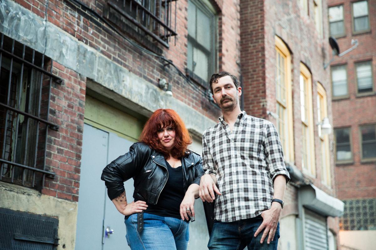 Amy Douglas and Michael the Lion