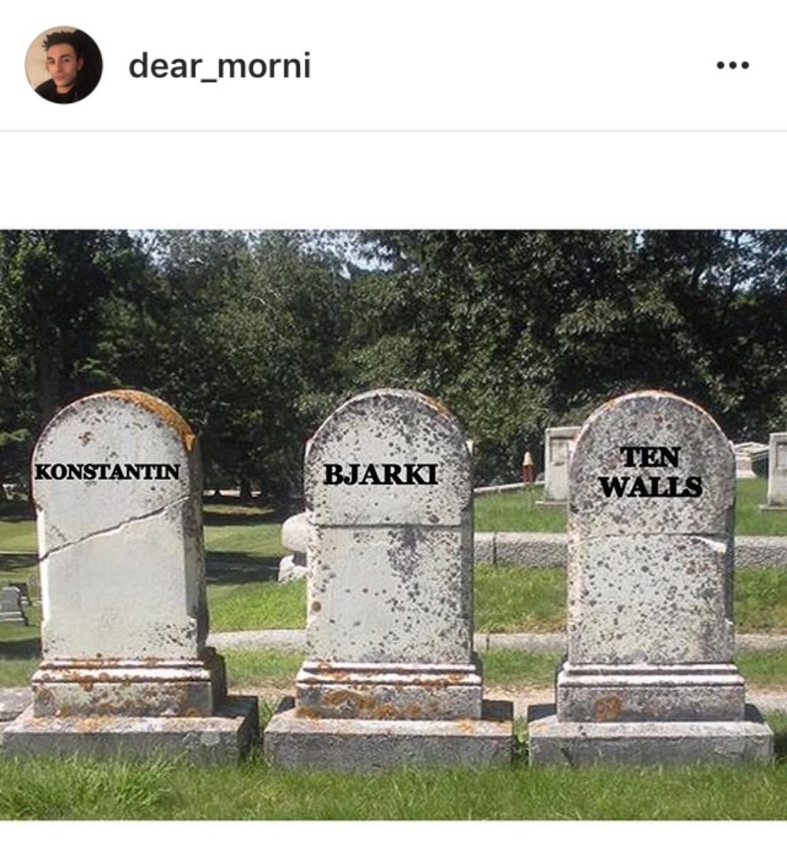 Konstantin Bjarki Ten Walls tombstones
