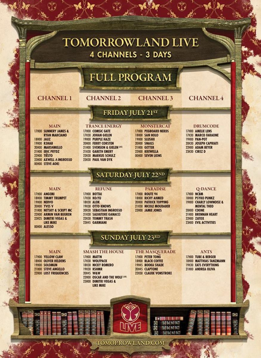 Tomorrowland 2017 Live Stream