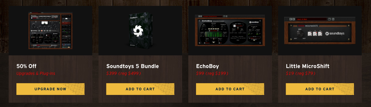 Score on some of Soundtoy's most popular plugins. Shop HERE
