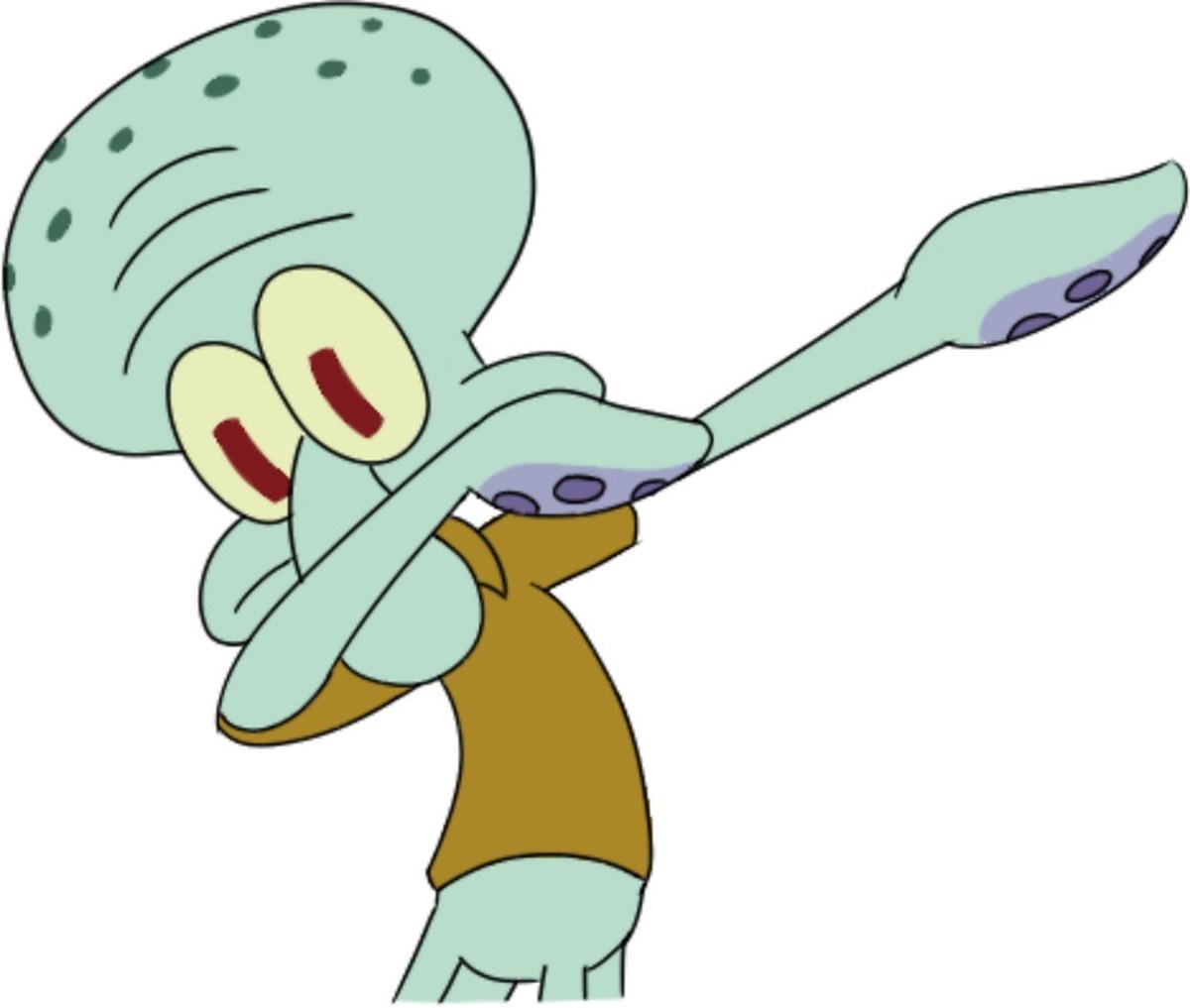 Squidward Dabbing