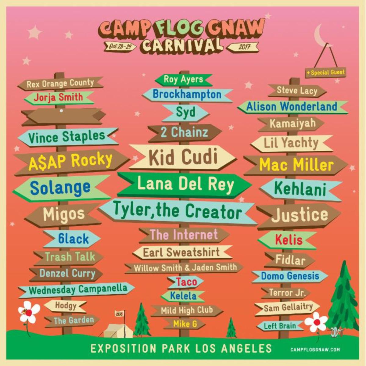Camp Flog Gnaw Carnival 2017 Lineup