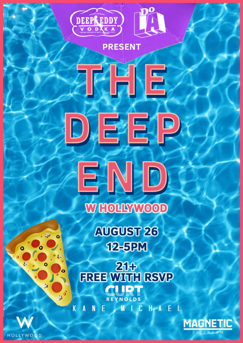 Join us at The Deep end on 8/26.