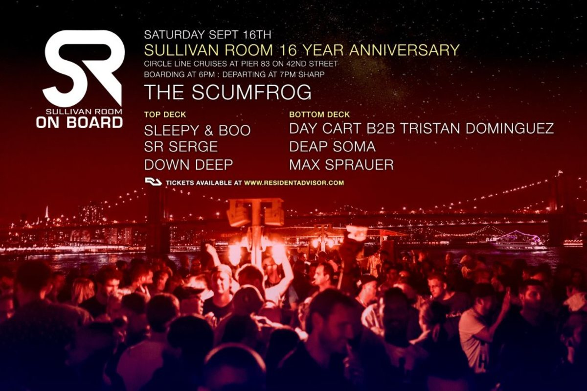 Sullivan Room 16th Anniversary Cruise flyer