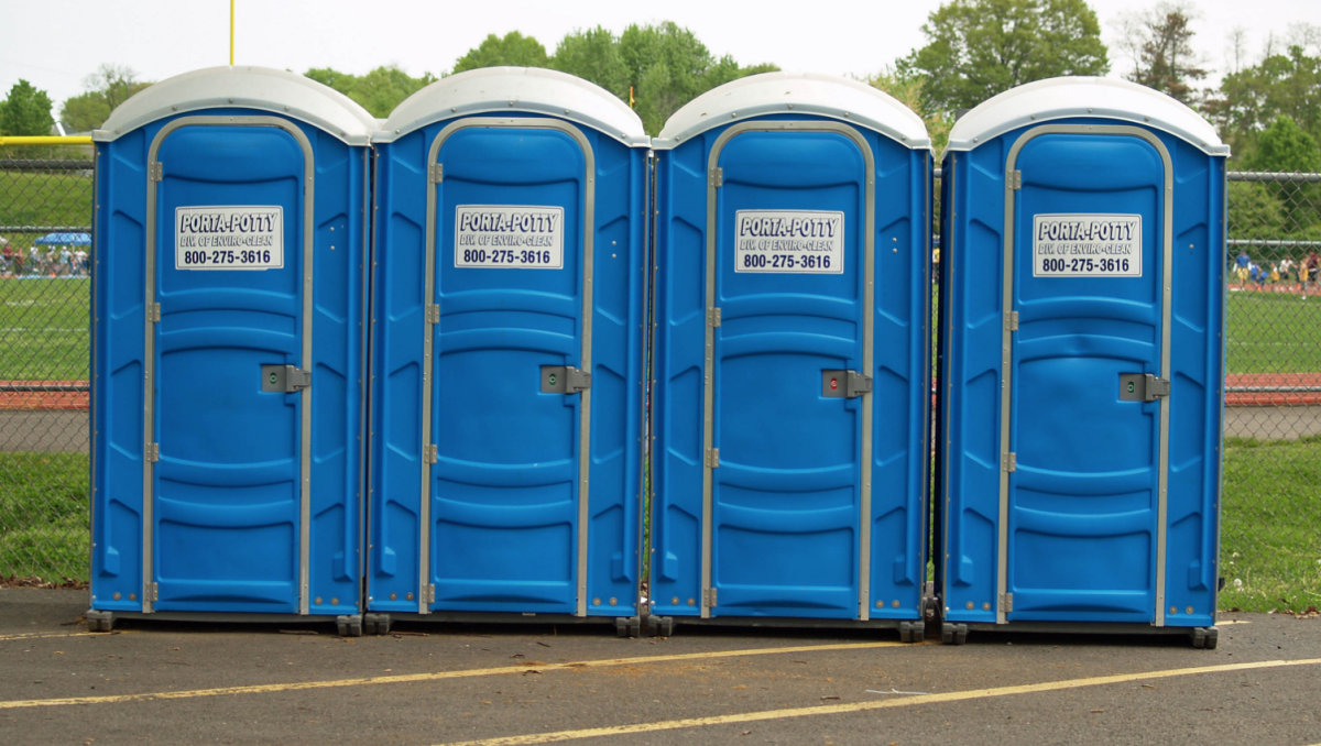 Porty Potties, not at Forest Hills Stadium (photo by David Shankbone)