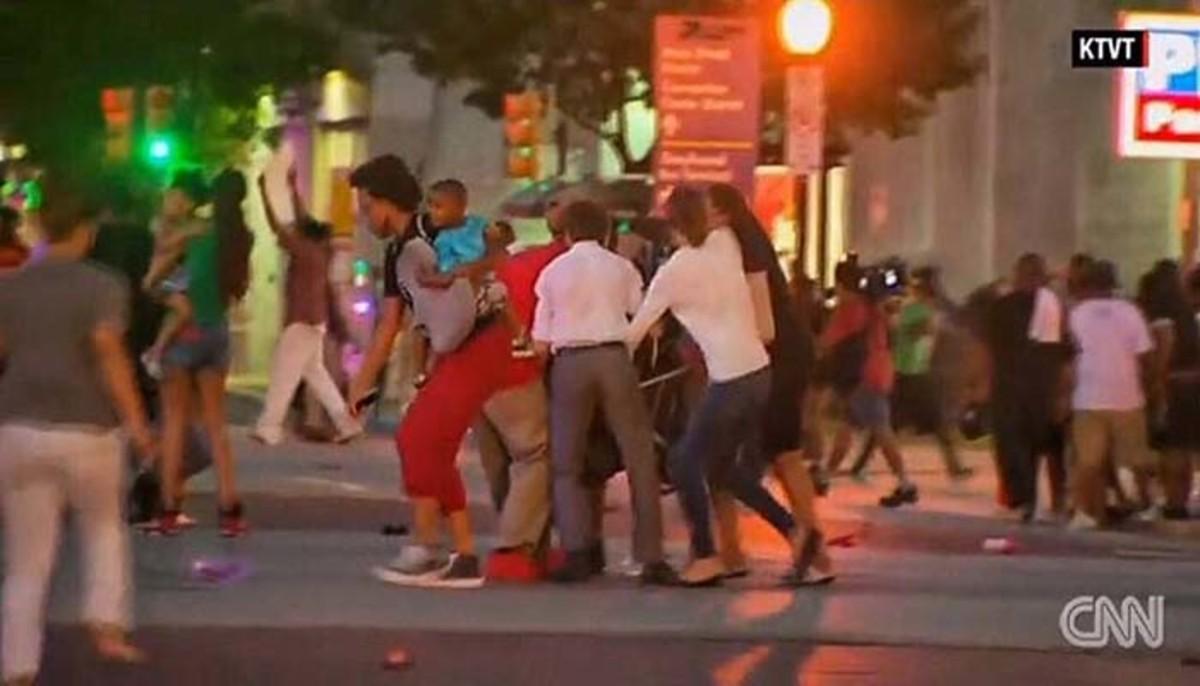 Dallas Attacks Stroller Scene