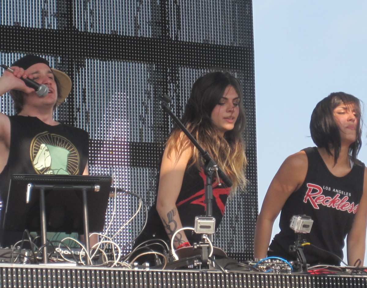 Krewella with Rain Man (left) (photo by Mitch Doner)
