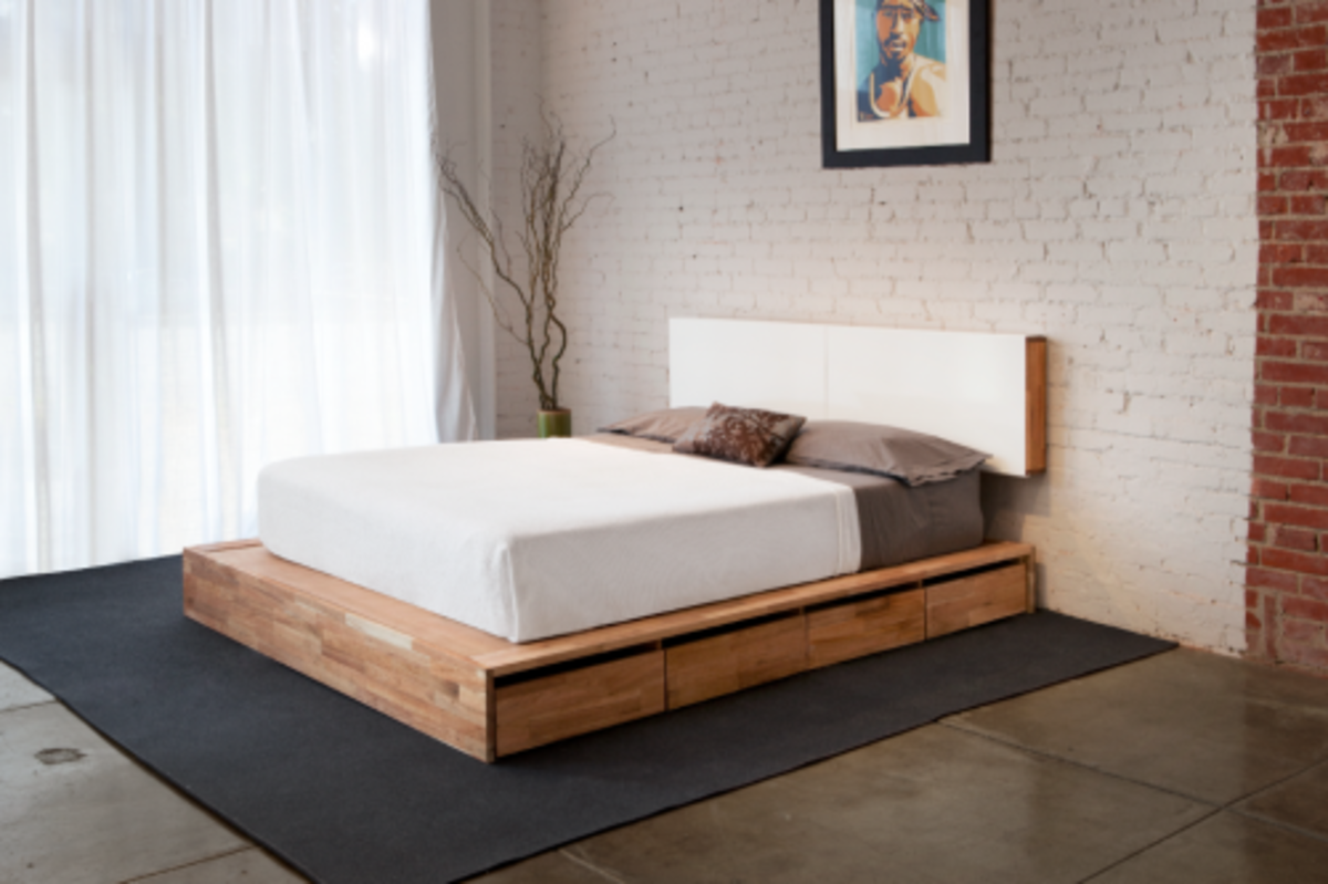 Perfect Modern Bed Frame with drawers underneath