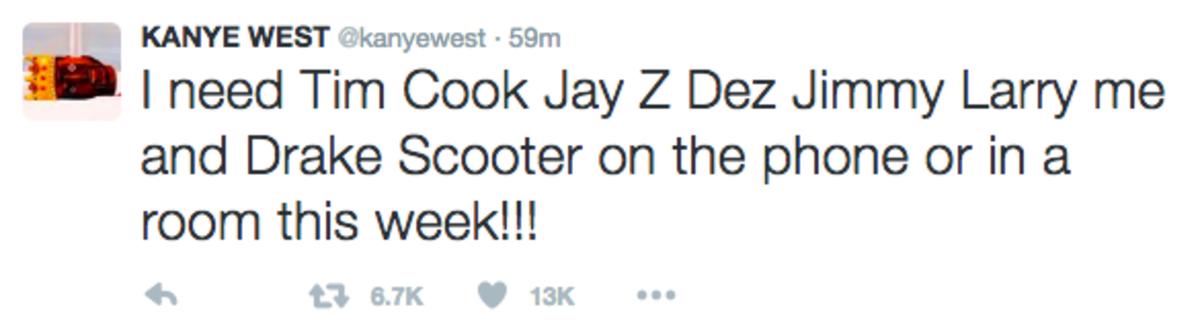 Kanye West Tweet 3