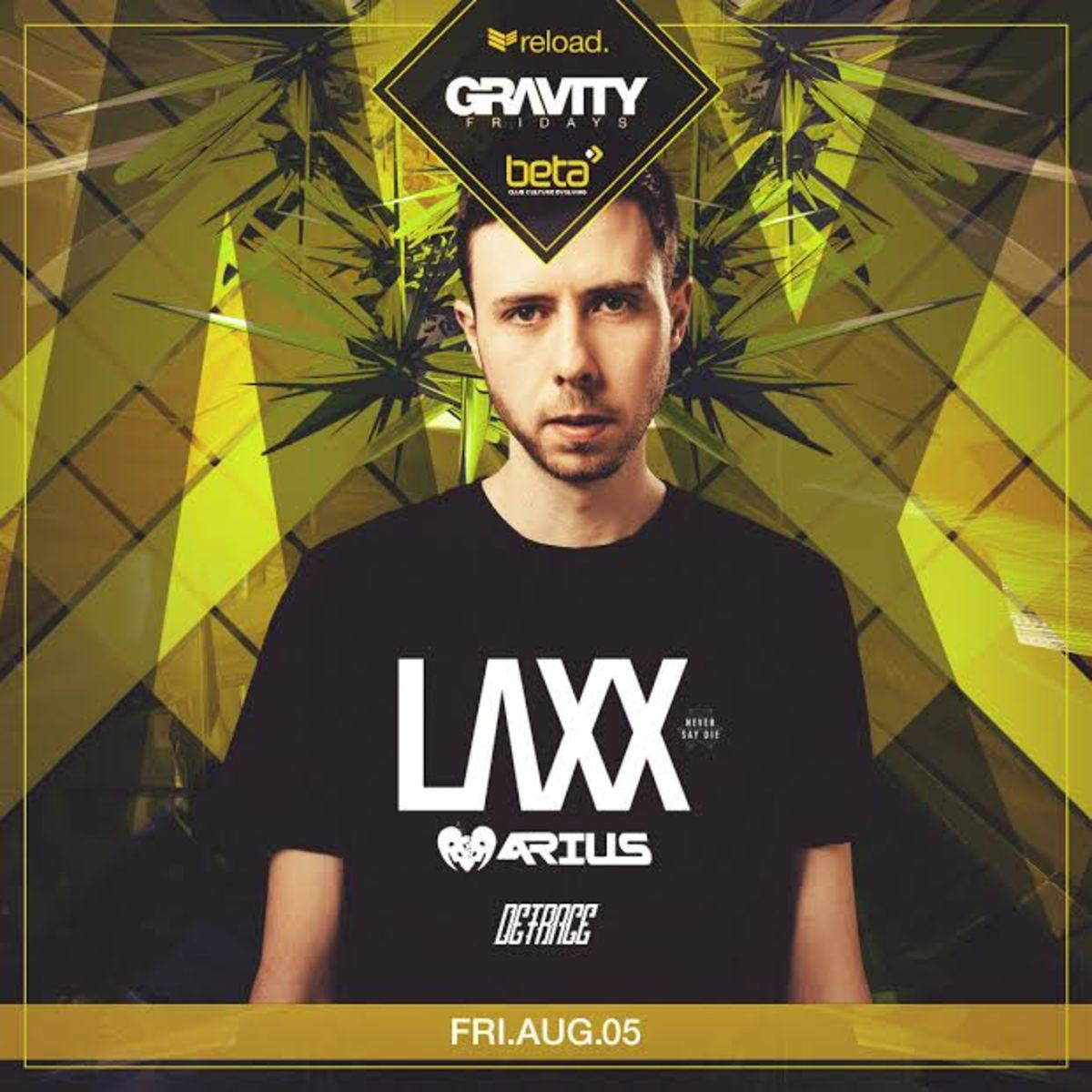 LAXX Beta Nightclub August 5th flyer
