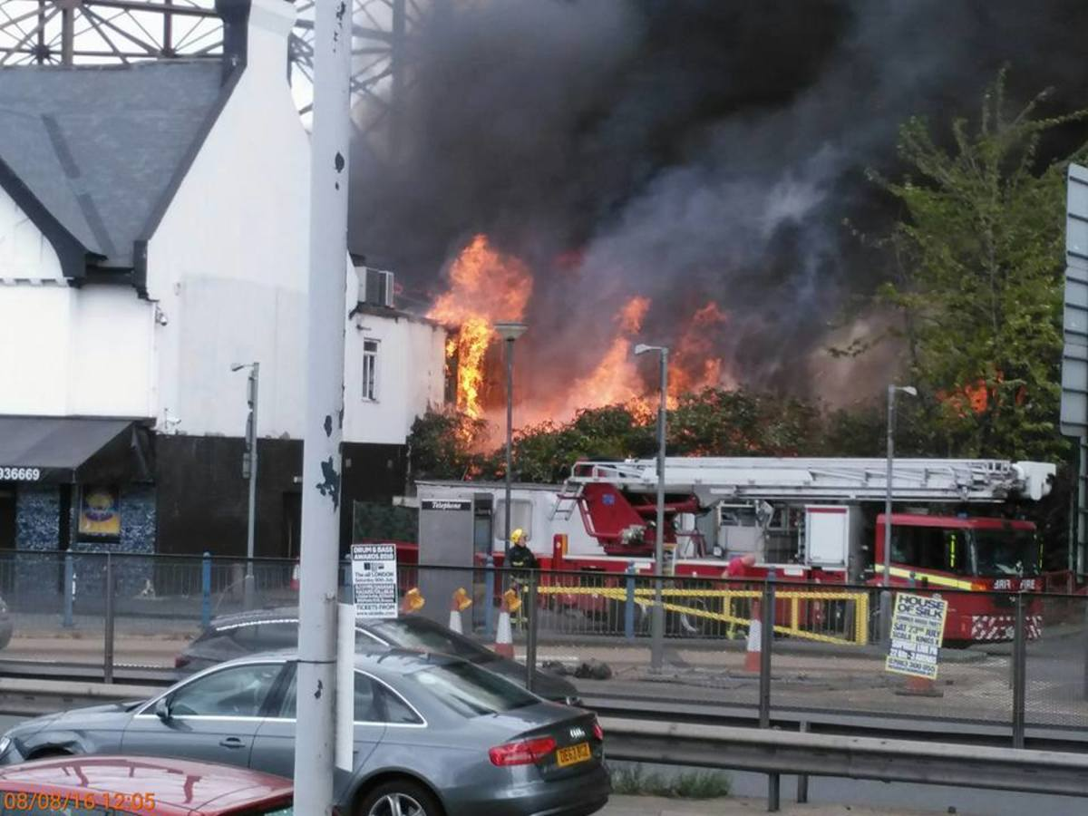 London nightclub Studio 338 catches fire