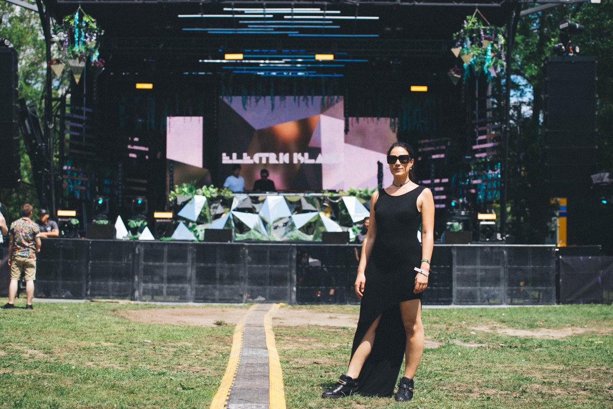 Lindsay Cabrera at Electric Island in 2016