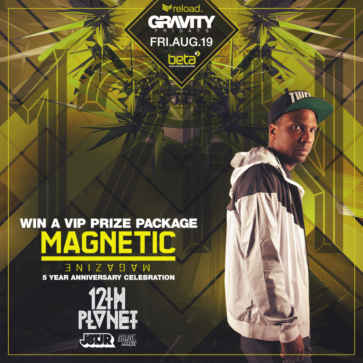 Magnetic Magazine x Beta Nightclub x 12th Planet & JSTR