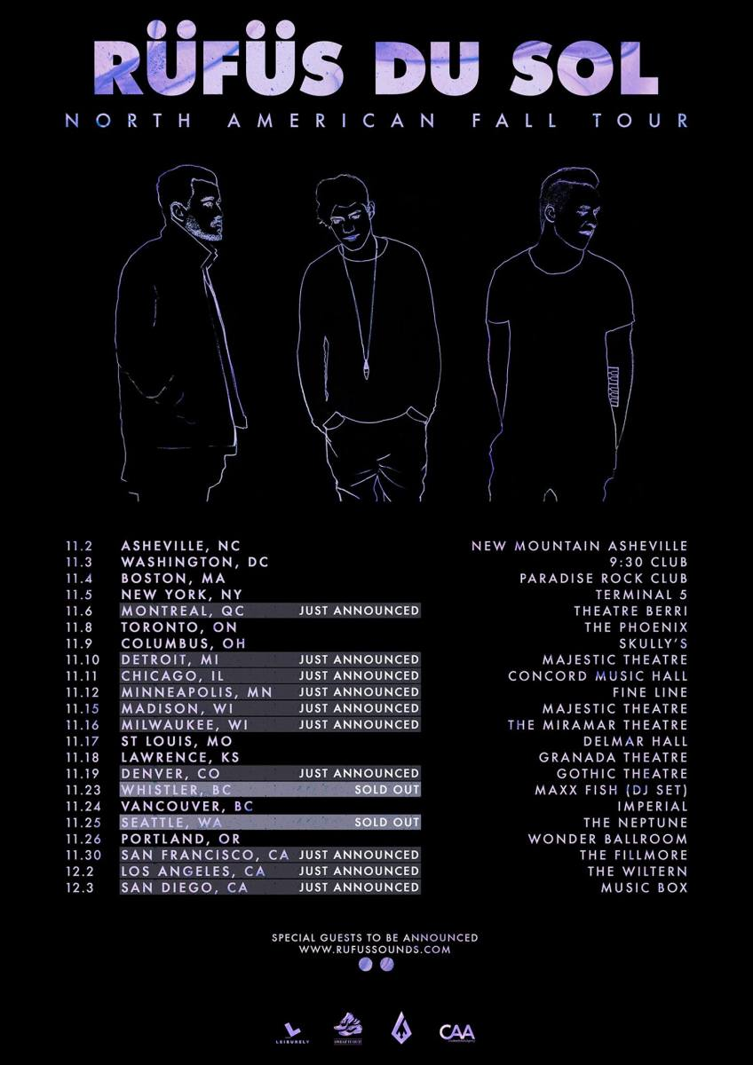 rufus du sol north american fall tour 2016
