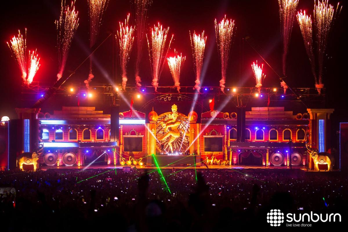 The 2015 edition of Sunburn Festival in Goa, India.