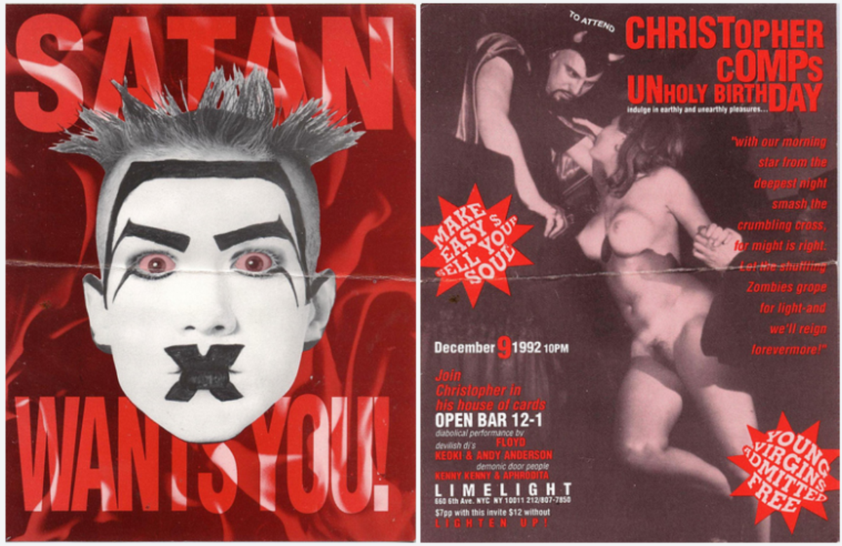 Christopher comps unholy birthday flyer