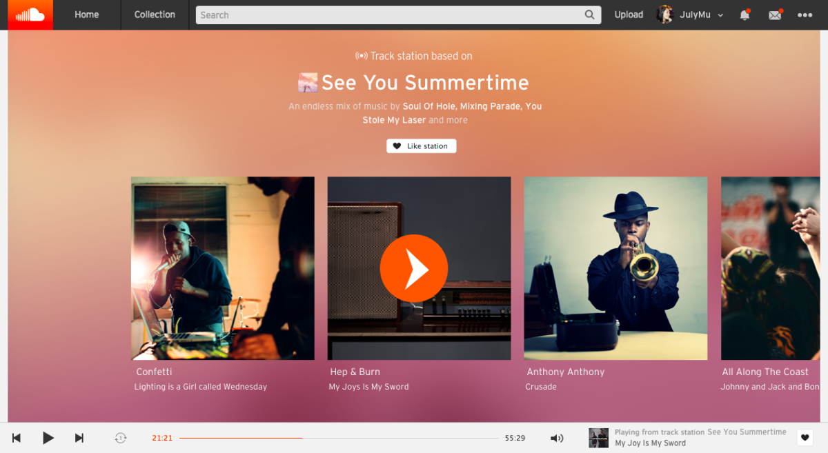 SoundCloud's new Stations feature