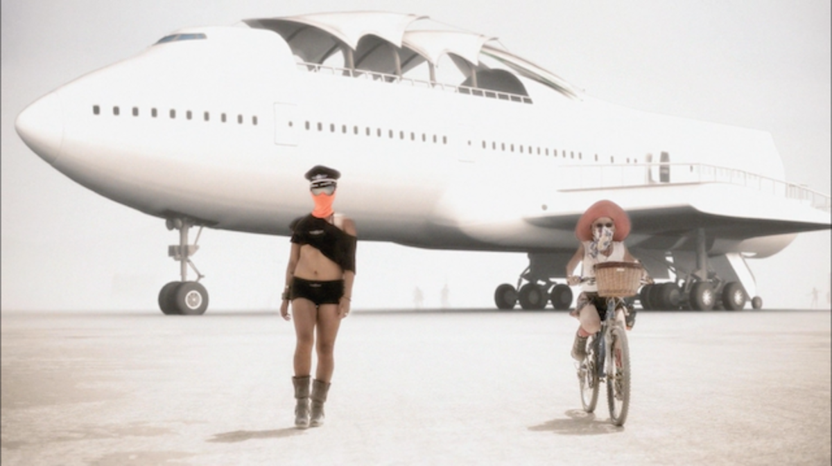 Burning Man The Big Imagine 747 Project