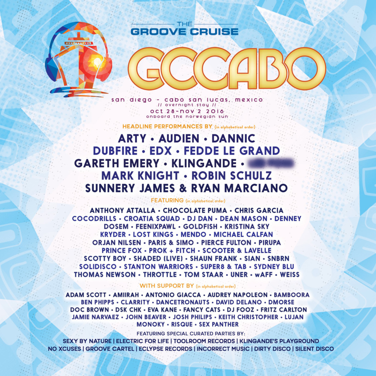 Groove Cruise Cabo phase 2 lineup