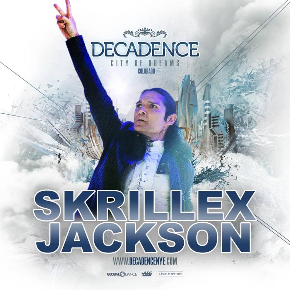 Joman Skrillex Jackson Corey Feldman Decadence NYE 2016
