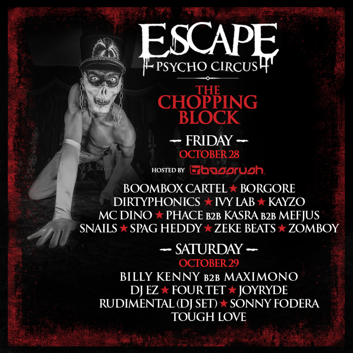 escape psycho circus brand new chopping block stage is absolutely