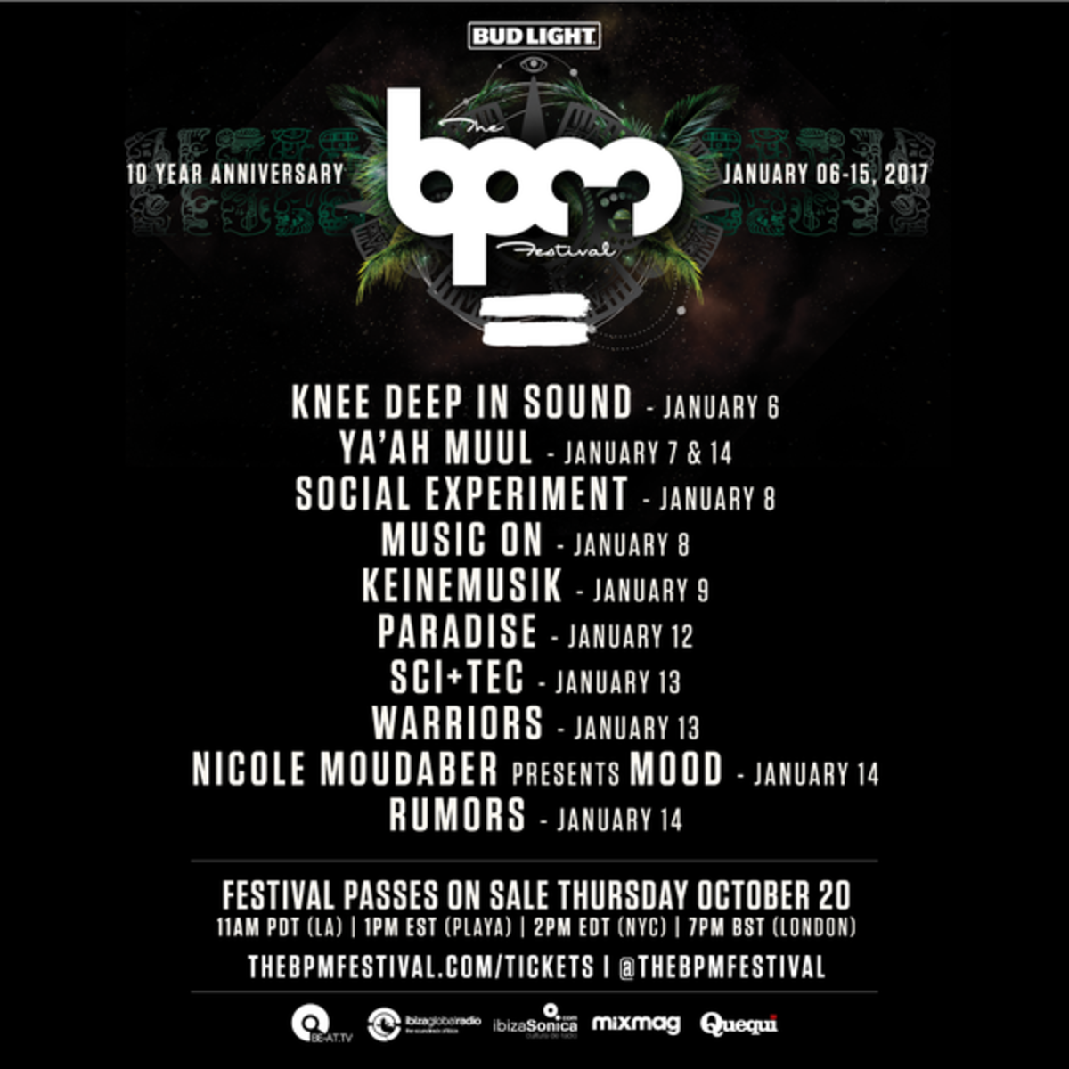 BPM Festival Showcases 2017