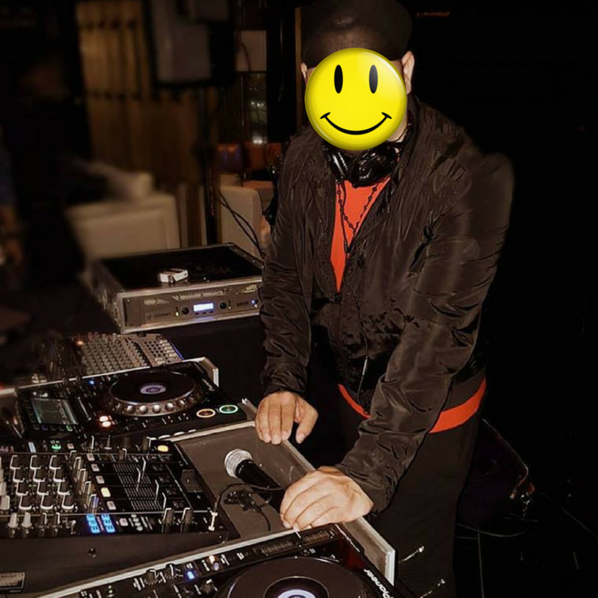DJ Kareem Infinity - The image has been modified to protect his identity.