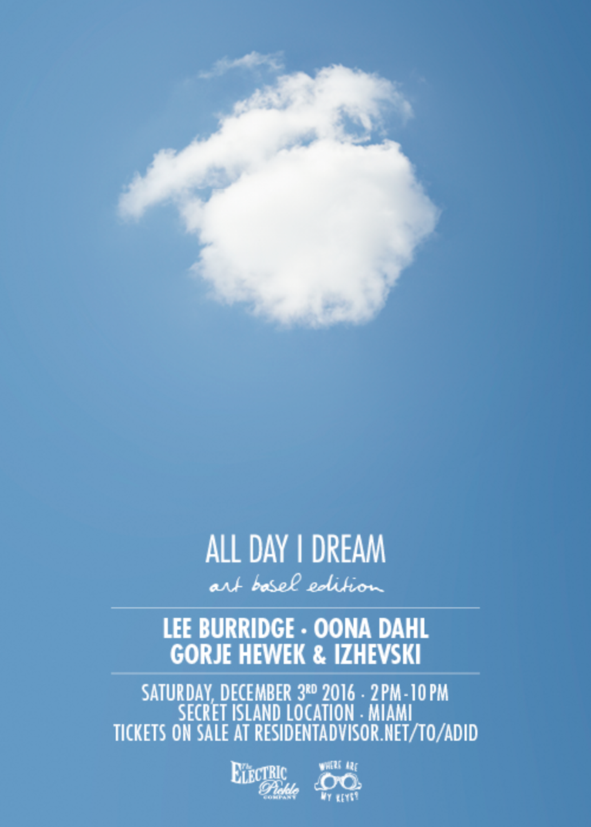 All Day I Dream is making its Art Basel debut at a 'secret island' venue.