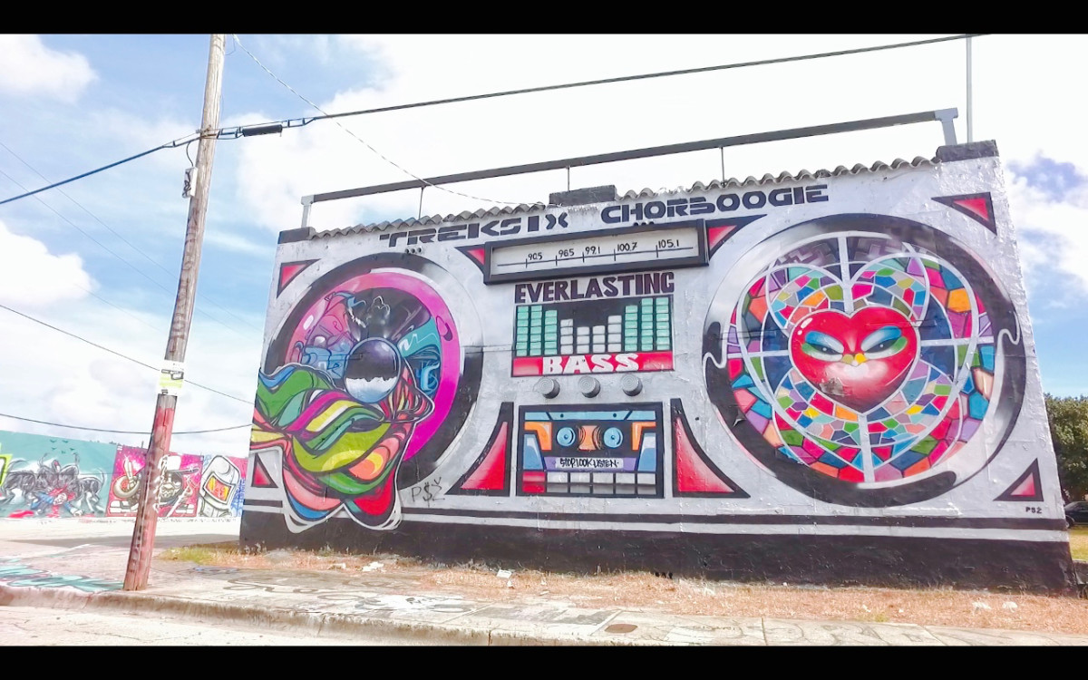 Chor Boogie's early piece in the Wynwood District Miami still stands!