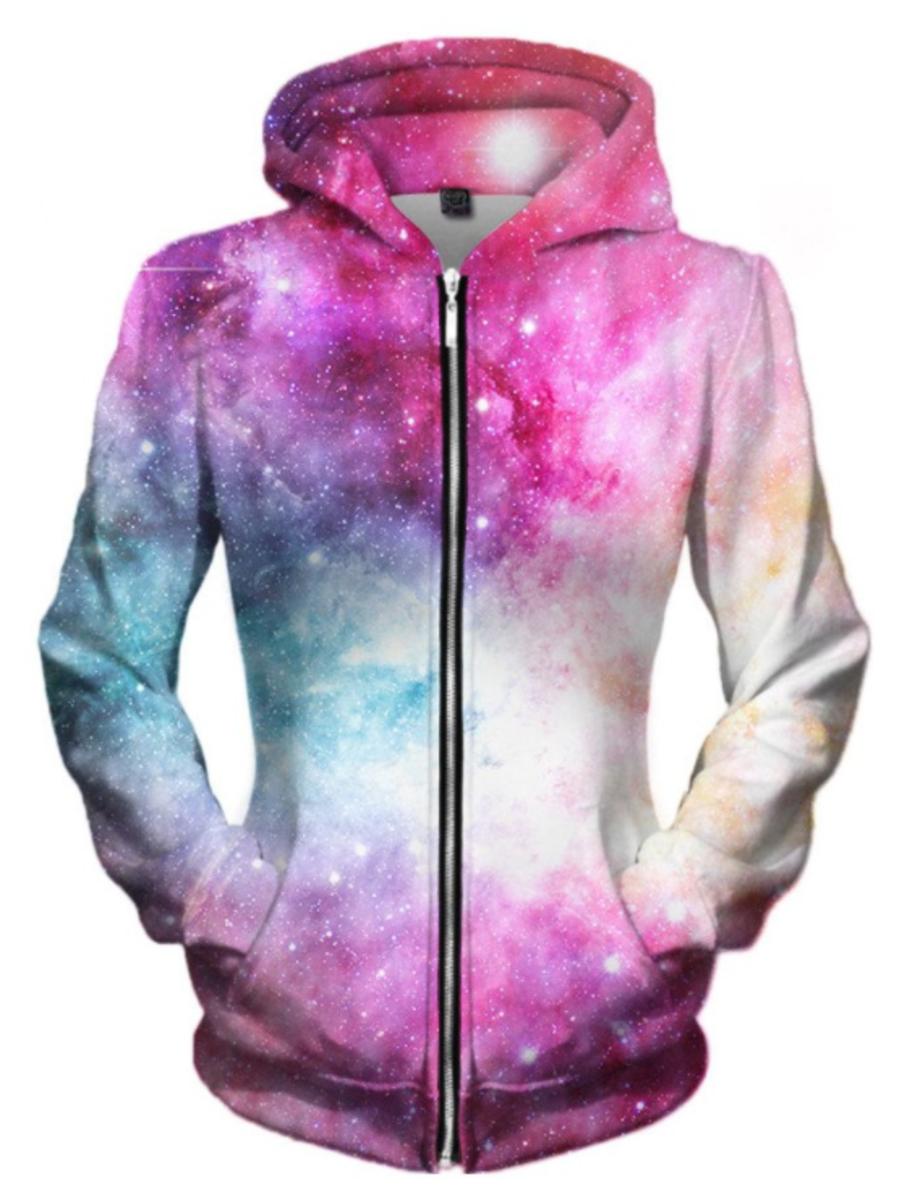 Pastel Nebula Zip Up Hoodie