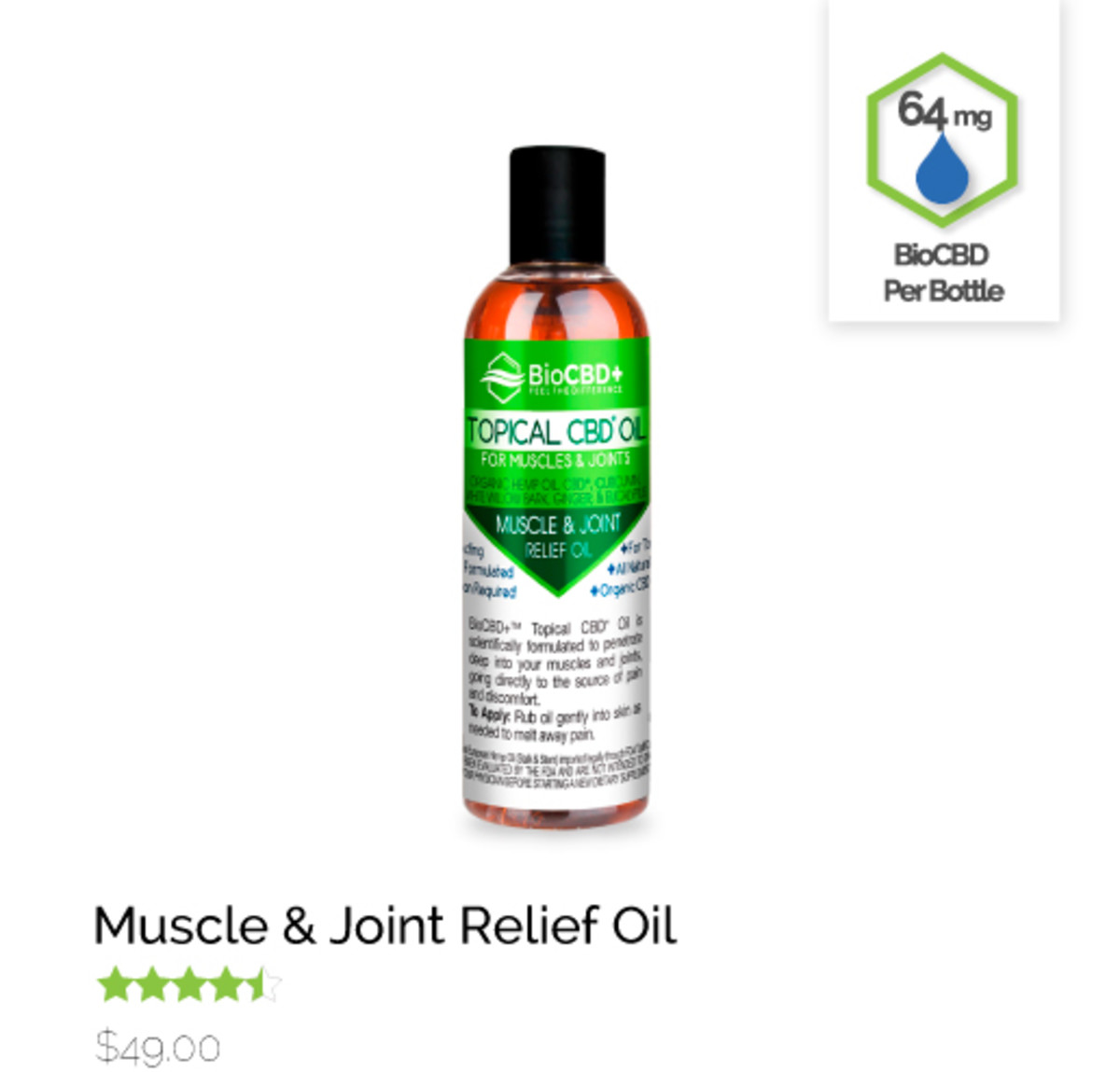Muscle and Joint Relief Oil
