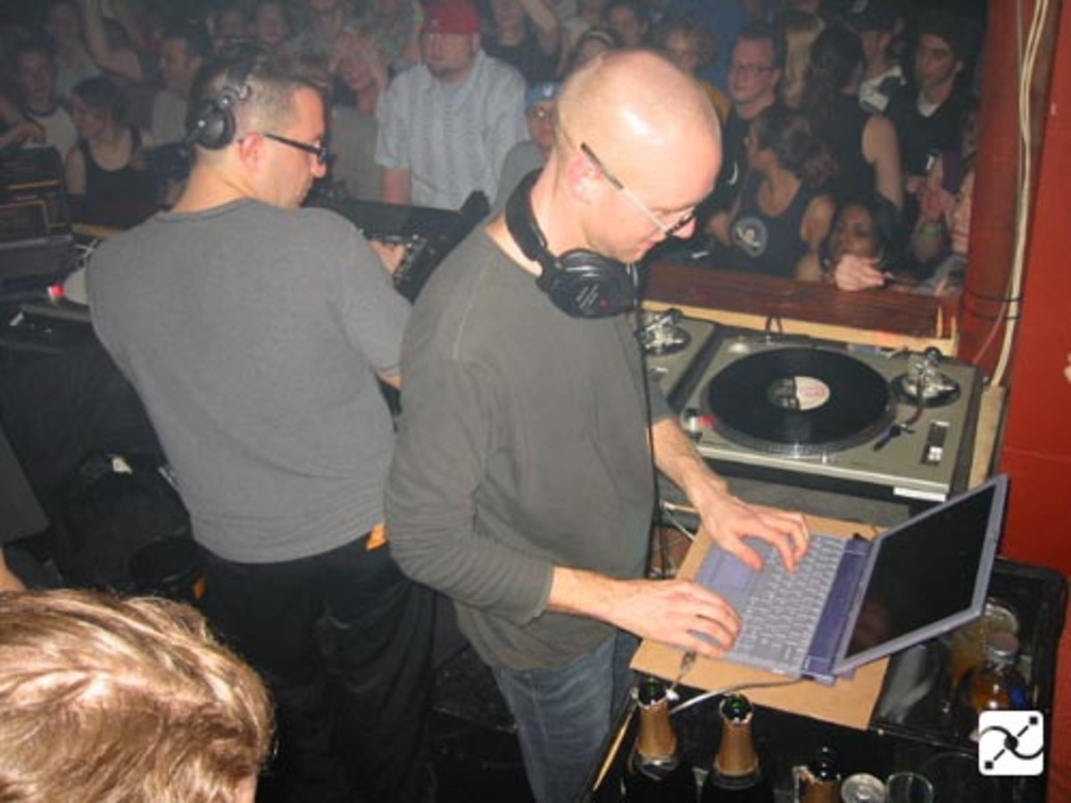 Richie Hawtin and John Acquaviva at Motor in 2002