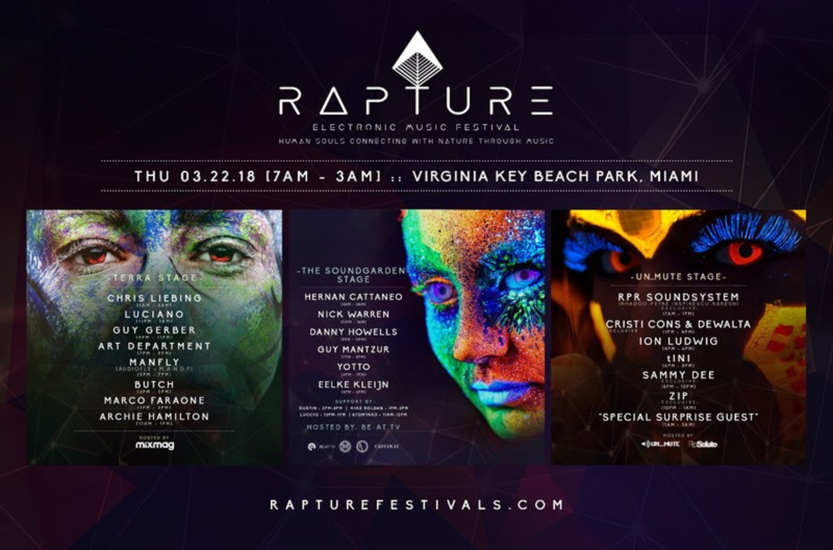 Rapture Electronic Music Festival 2018