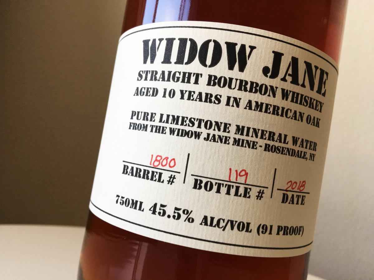 Widow Jane Barrell #1800, Bottle # 119