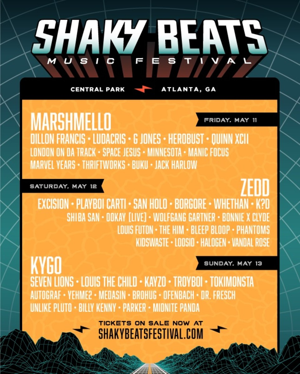 Shaky Beats 2018 Lineup Day-By-Day