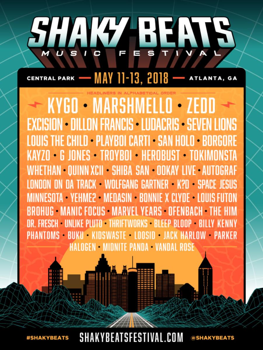 Shaky Beats Festival 2018 Lineup
