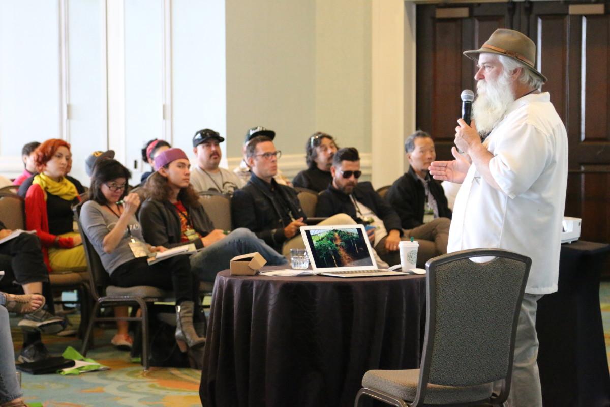 CannaGrow Expo Farmer Tom Lauerman leads a session