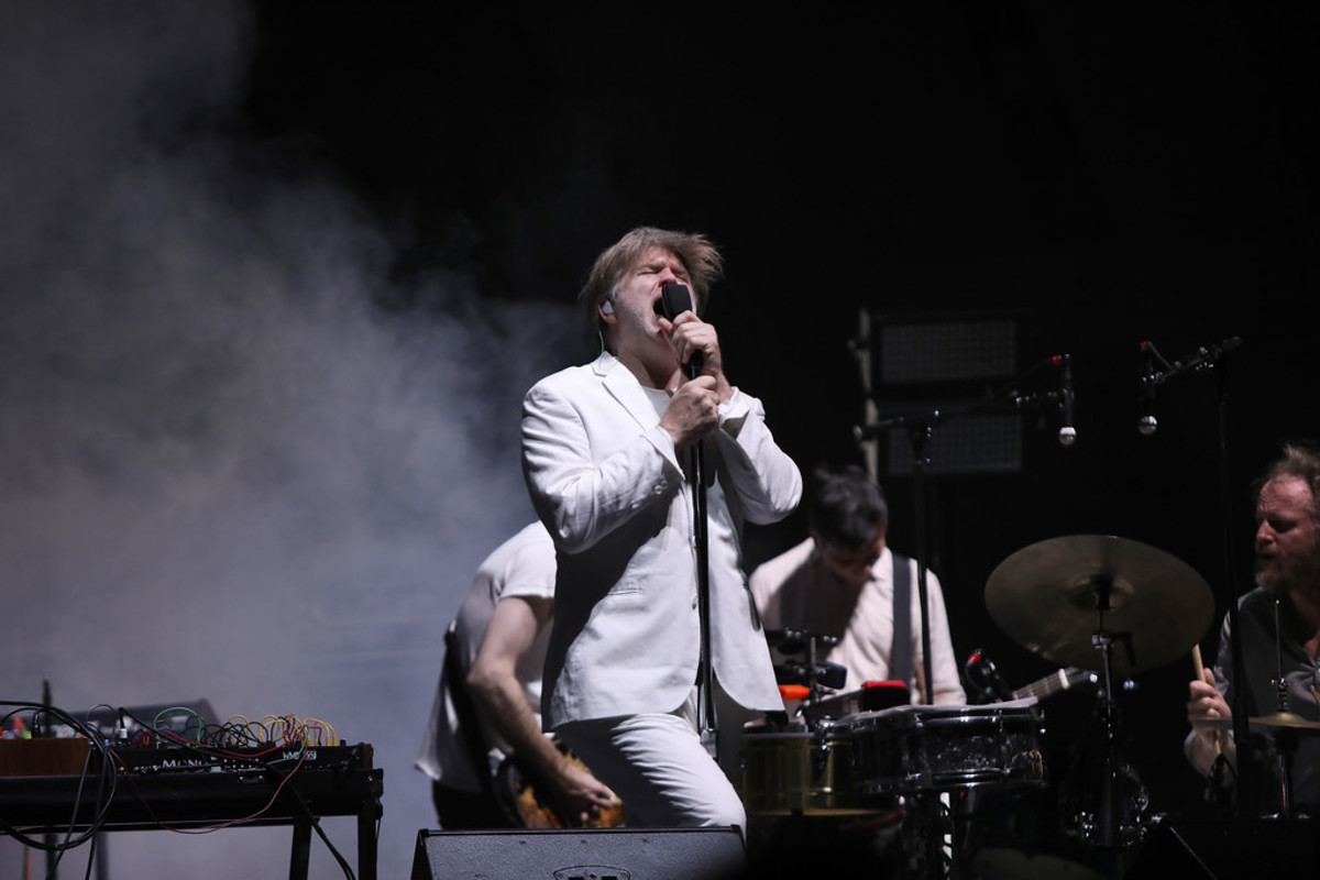 James Murphy / LCD Soundsystem playing to a sold out audience at Hollywood Bowl May 5th 2018