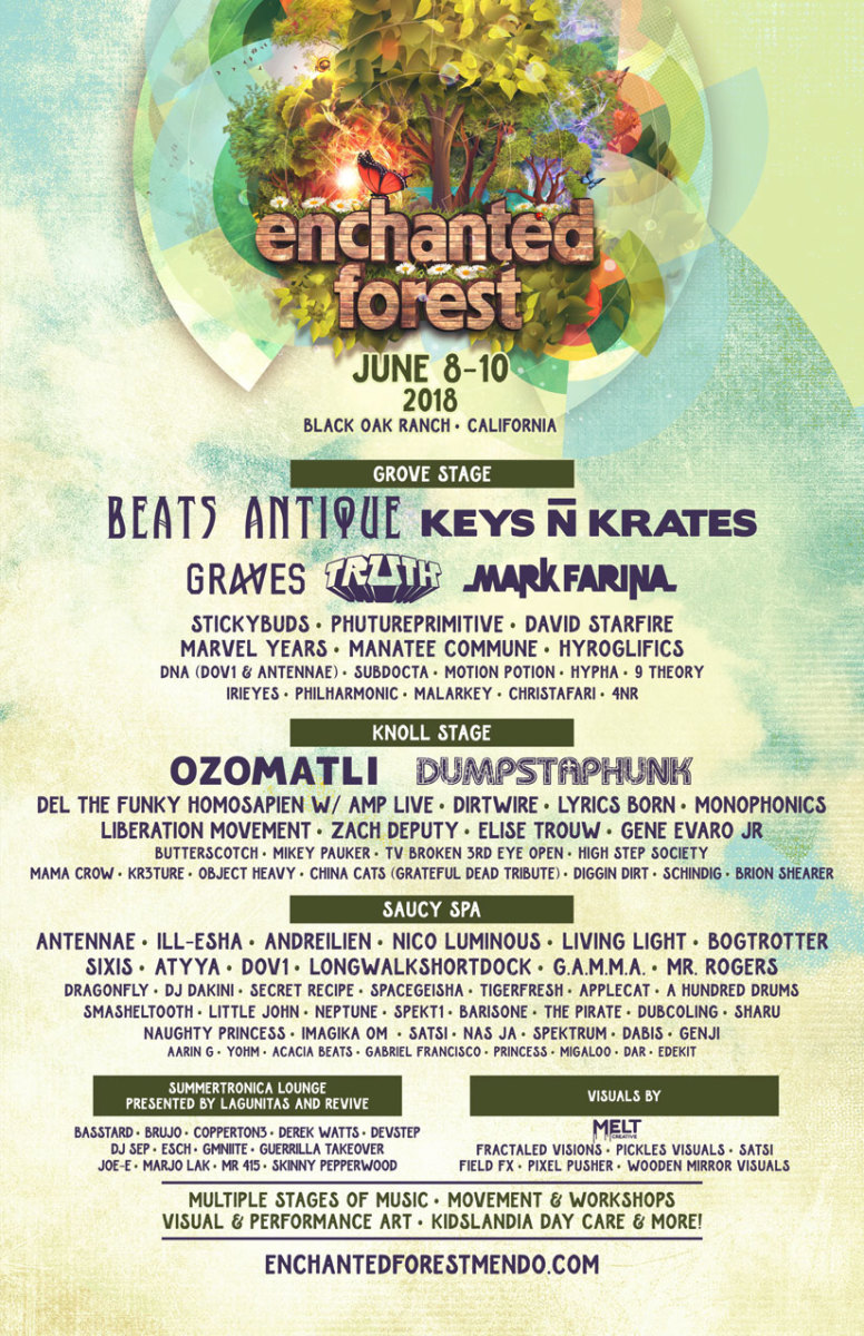 Enchanted Forest 2018 Lineup